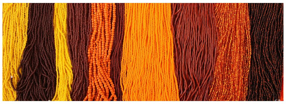 yellow, orange and brown beads